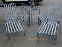 Vintage Wrought Iron Patio Furniture Woodard by Vintage Chaise Lounges By Woodard Sold Vintage Wrought Iron