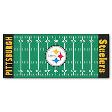 Steelers Bathroom Rug Set by Amazon Com Fanmats Nfl Pittsburgh Steelers Nylon Face Football