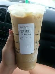 Venti Coffee Starbucks Iced Sugar Free Caramel Syrup Heavy Whip 0 Carbs Favorite Black