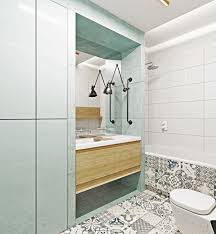 Gray And Teal Bathroom by Two Muted Tone Uncovered Brick Pads For Younger Households U2013 Geminily