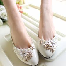 online get cheap rhinestone wedding shoes flats aliexpress com