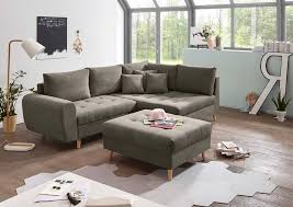 ecksofa inkl hocker 249x175 cm schlamm grau braun günstig möbel küchen büromöbel kaufen froschkönig24