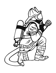 Fireman Coloring Page Printable Firefighter Pages Me Line Drawings