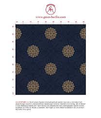 exklusive tapete mandarin dunkel blaue vlies tapete elegante ornamenttapete für schlafzimmer