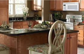 White Marble Flooring Tile In Modern Home Kitchen Built Microwave Oven Black Cabinet Islands With Seating Pendant Lamp