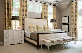 Lovely Drapes Accentuate The Gray And Yellow Color Palette In Room Design Tobi