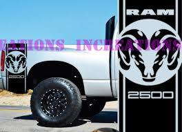 100 Ram Truck Decals 2019 For Universal Hemi Dodge Head 2500 Bed Stripes