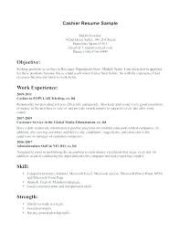 Cashier Objective Resume Template