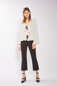 polka dot bed blouse topshop usa