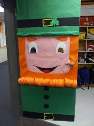 St Patricks Day Classroom Door Decoration Idea