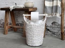 toilettenpapierhalter korb vorratskorb badaccessoires landhausstil