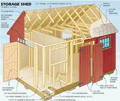 16x12 Shed Material List by 12 X 16 Storage Shed Plans Sheds Pinterest Storage