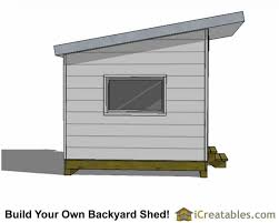 Backyards Cool 10x12 Modern Shed Plans Right Side 10x10 Studio