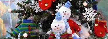 Snowmen Holiday Christmas Tree Facebook Cover