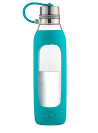 Purity Glass Water Bottle With Tethered Lid
