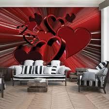 details zu vlies fototapete herz liebe rot abstrak 3d schlafzimmer wandtpete tapete