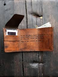 mens custom leather wallet walter mitty wallet di redleafleather