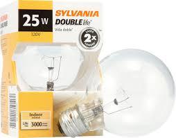 sylvania 14145 incandescent doublelife clear globe decor g25