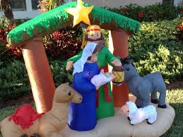 Grinch Blow Up Yard Decoration by 25 Days Of Christmas Day 1 Inflatable Christmas Nativity Scene
