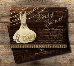 Country Bridal Shower Invitation Rustic Theme Glam Wedding Invite High Heel Bridesmaid Dress