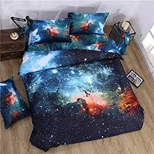 Amazon EsyDream Queen Space Duvet Cover Sheet Universe Outer
