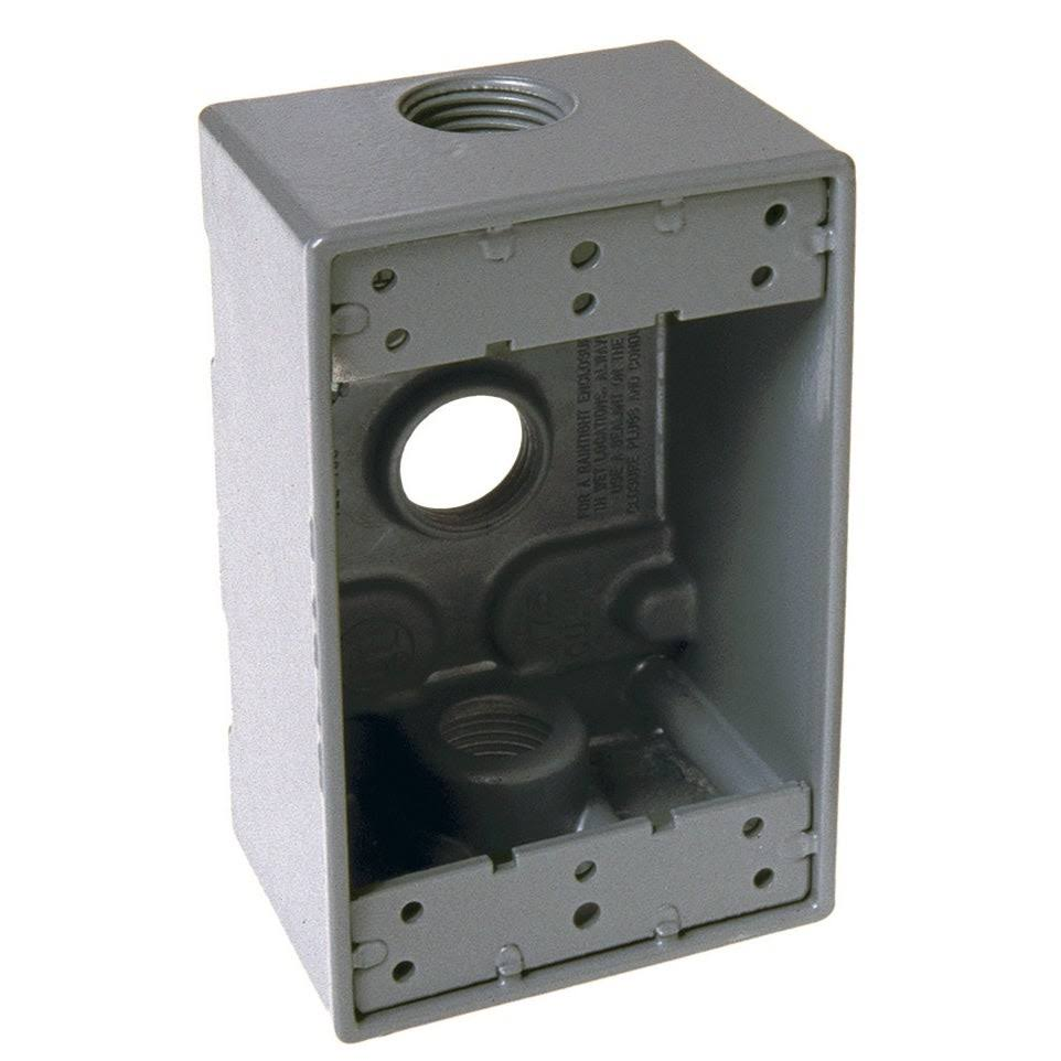 Bell Outdoor 1-Gang Outlet Box - Grey