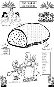 The Feeding Multitude Word Seach Puzzle Coloring Pages