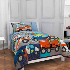 Fire Truck Bedding Full Kids Bed In A Bag Bed Set Comforter Sheets ...