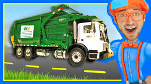 Garbage Trucks For Children With Blippi | Learn About Recycling ...