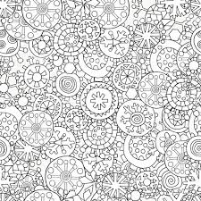 Seamless Pattern For Coloring Book Christmas Winter Snowflakes Royalty Free Stock Vector Art