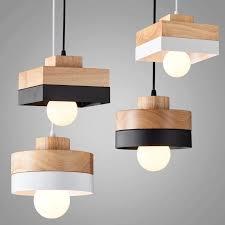 180mm x 120mm holz eisen pendelleuchte schwarz weiß holz hängeleuchte mit wohnzimmer beleuchtung hause cafe shop dekoration