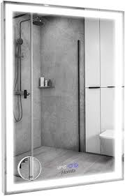 homfa led spiegel 60x80cm wandspiegel badspiegel badezimmerspiegel lichtspiegel mit beleuchtung 3 farbtemperatur dimmbare led berührung sensorschalter