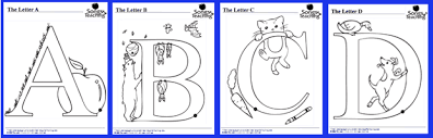 Alphabet Animal Coloring Pages Download Songs For TeachingR Educational Childrens Music