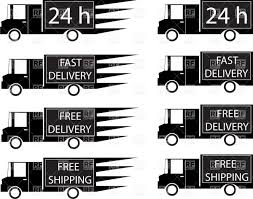 100 Signs For Trucks Simple Delivery Trucks Side View Vector Image Of Symbols