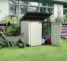Keter Woodland Lean To Storage Shed by Garden Shed Keter Store It Out Max Plastic Wheelie Bin Storage