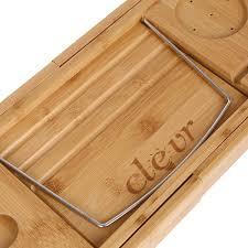 Bamboo Bathtub Caddy With Wine Glass Holder by Luxury Bamboo Bathtub Caddy Organizer W Book Tablet Holder
