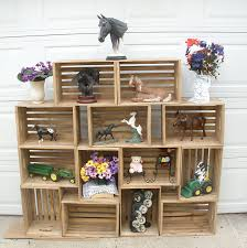 LARGE Rustic Display Case Crate Wood