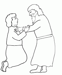 Bible Story Coloring Page For Jesus Teaches About Forgiveness