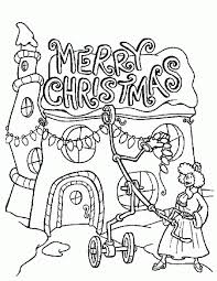 Latest Christmas Lights Coloring Pages How The Grinch Stole