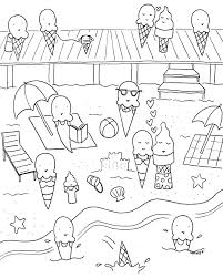 Able Summer Fun Coloring Book Pages Printable Free Cartoons