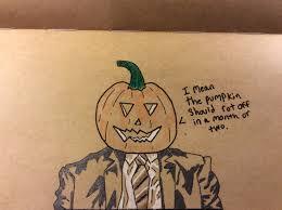 Dwight Pumpkin Head Gif by Dwight Schrute