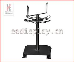 Red Color Countertop Revolving Greeting Card Display Rack Spinning Business Name Stand Store