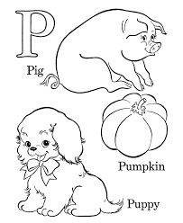 Farm Alphabet ABC Coloring Page