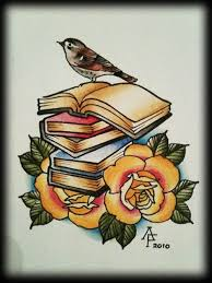 This Would Be An Neat Tattoo Books And Roses