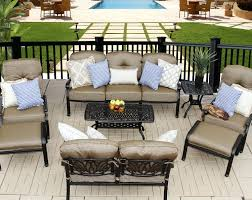 Patio World Thousand Oaks by Elisabeth 8pc Deep Seating Set U2013 1 Sofa 1 Loveseat 2 Adjustable