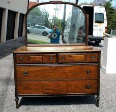 dressers tiger oak dresser with beveled mirror antique tiger oak