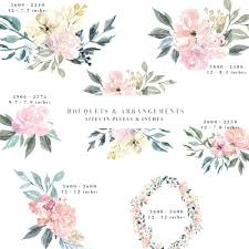 Elegant Borders And Frames For Wedding Invitation Neutral Watercolor Flowers Floral Background