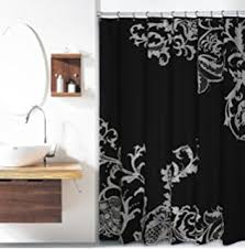 Black And White Flower Shower Curtain by Amazon Com Amazer Plastic Roller Stainless Steel Shower Curtain