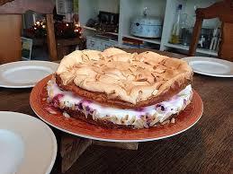 himbeer quark kuchen mit baiser