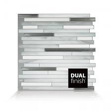 Murano Dune Mosaik Smart Tiles by Smart Tiles Backsplash Smart Tiles Murano Metallik In W X 910 In